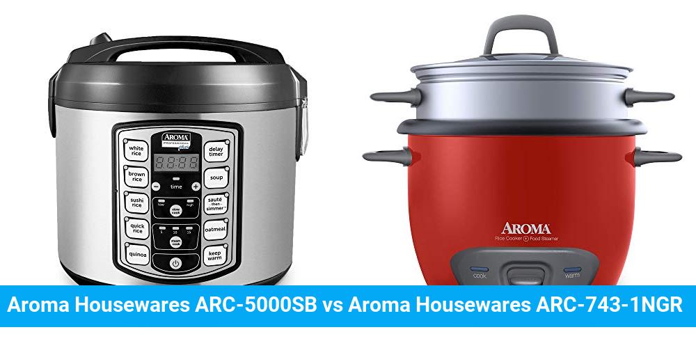 Aroma Housewares ARC-5000SB vs Aroma Housewares ARC-743-1NGR