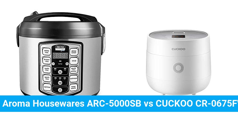 Aroma Housewares ARC-5000SB vs CUCKOO CR-0675FW