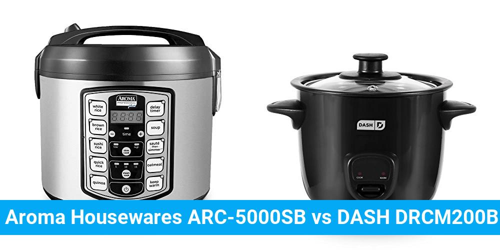 Aroma Housewares ARC-5000SB vs DASH DRCM200BK