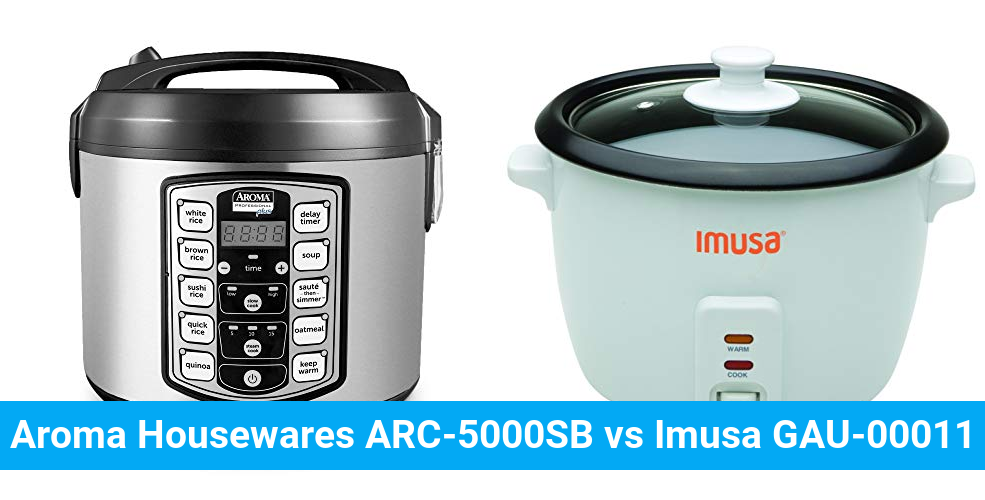 Aroma Housewares ARC-5000SB vs Imusa GAU-00011
