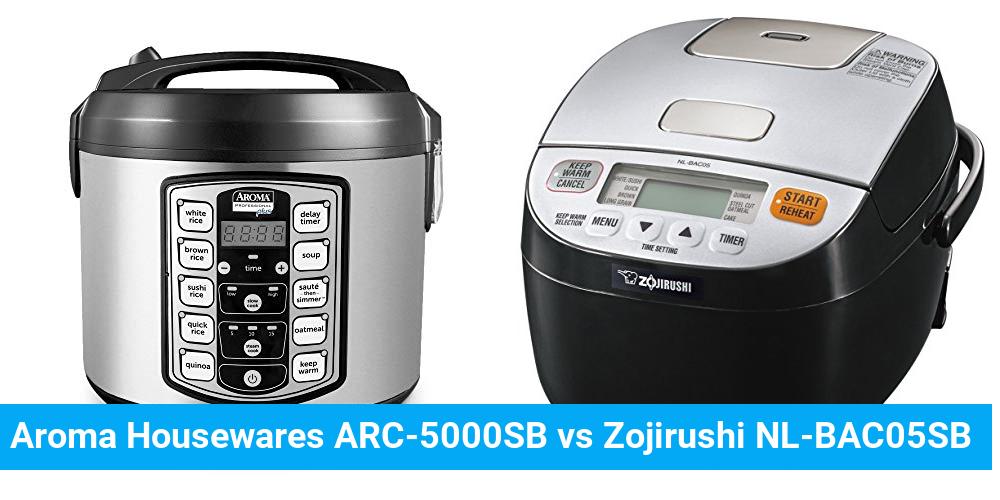 Aroma Housewares ARC-5000SB vs Zojirushi NL-BAC05SB