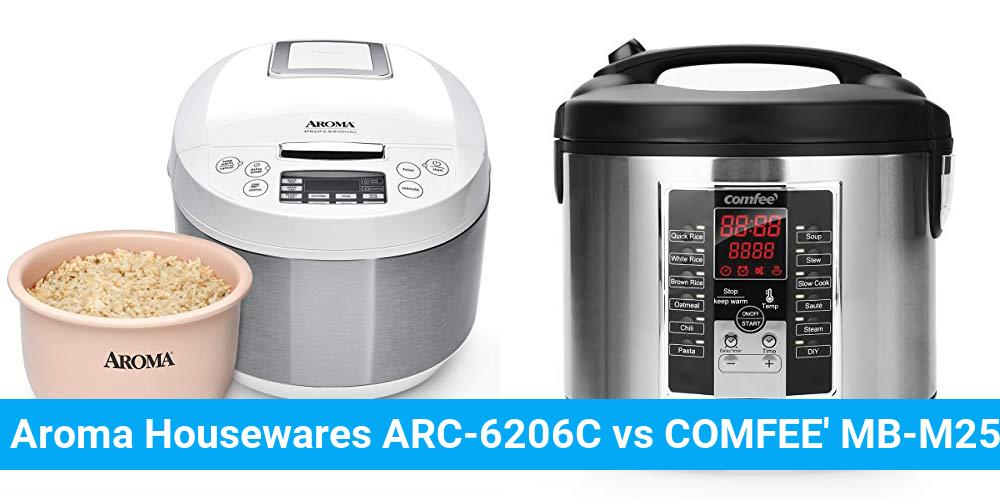 Aroma Housewares ARC-6206C vs COMFEE' MB-M25