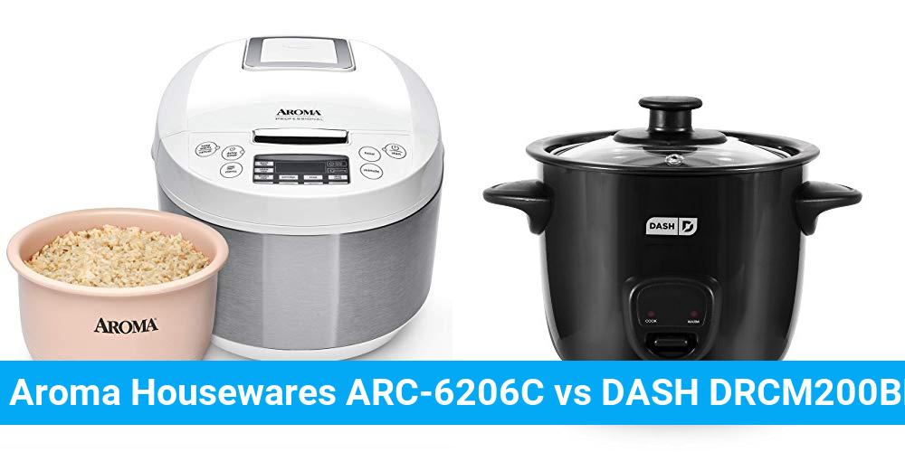 Aroma Housewares ARC-6206C vs DASH DRCM200BK
