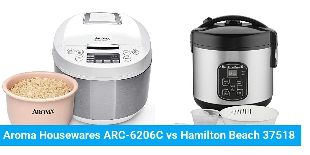 Aroma Housewares ARC-6206C vs Hamilton Beach 37518