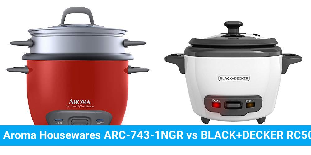 Aroma Housewares ARC-743-1NGR vs BLACK+DECKER RC503