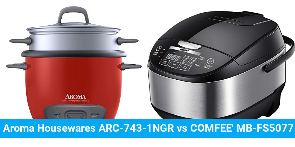 Aroma Housewares ARC-743-1NGR vs COMFEE' MB-FS5077