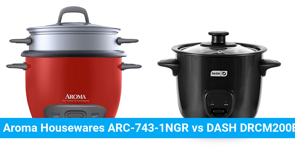 Aroma Housewares ARC-743-1NGR vs DASH DRCM200BK