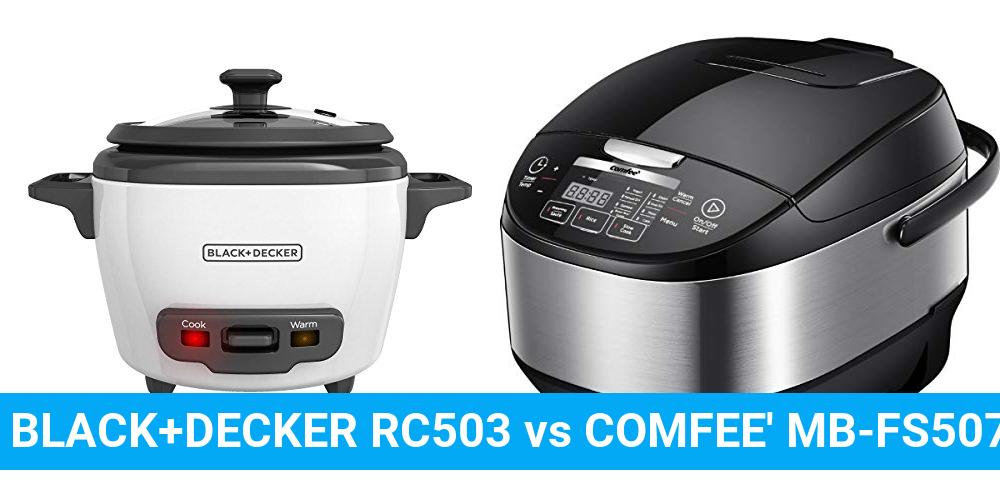 BLACK+DECKER RC503 vs COMFEE' MB-FS5077