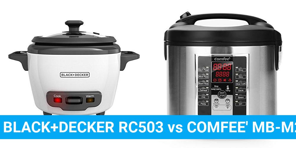 BLACK+DECKER RC503 vs COMFEE' MB-M25