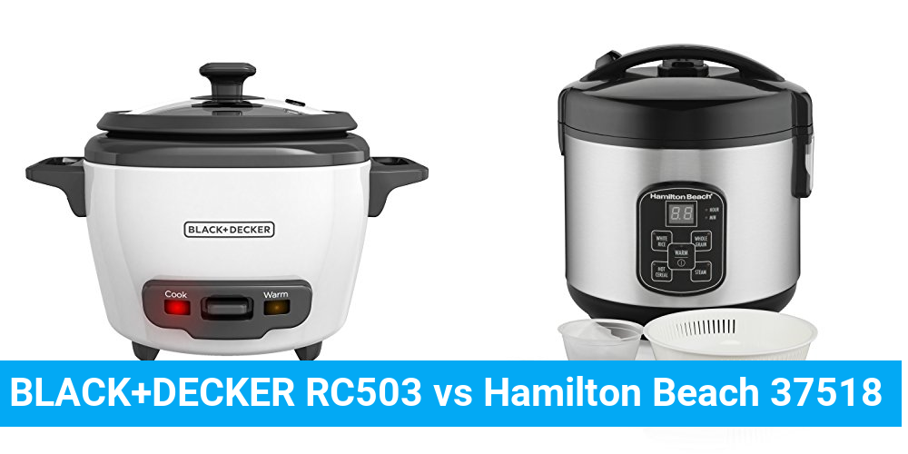 BLACK+DECKER RC503 vs Hamilton Beach 37518
