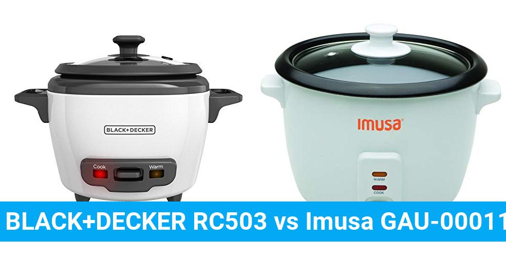 BLACK+DECKER RC503 vs Imusa GAU-00011