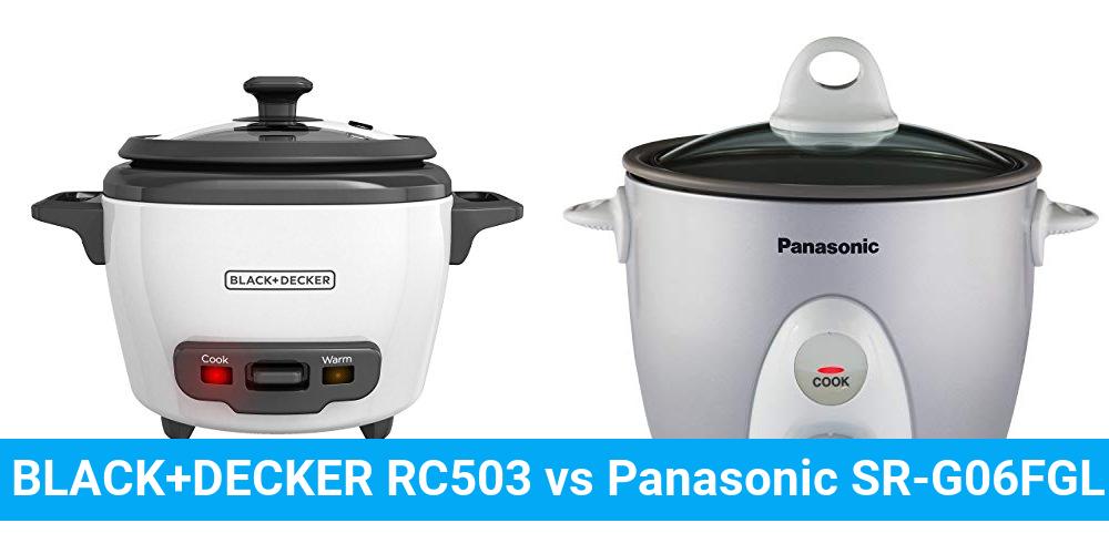 BLACK+DECKER RC503 vs Panasonic SR-G06FGL