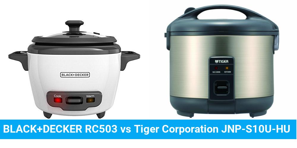 BLACK+DECKER RC503 vs Tiger Corporation JNP-S10U-HU