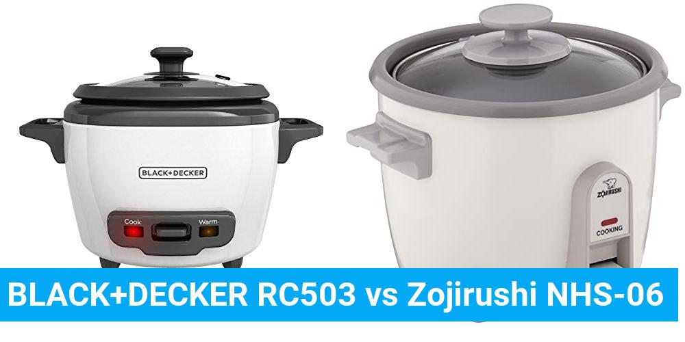 BLACK+DECKER RC503 vs Zojirushi NHS-06