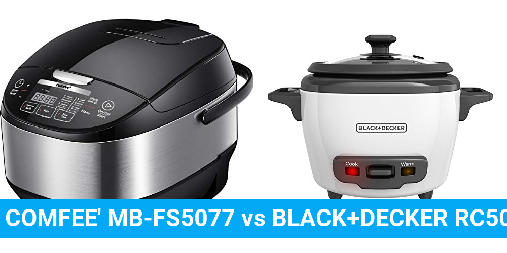 COMFEE' MB-FS5077 vs BLACK+DECKER RC503