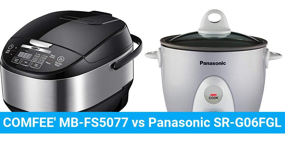 COMFEE' MB-FS5077 vs Panasonic SR-G06FGL