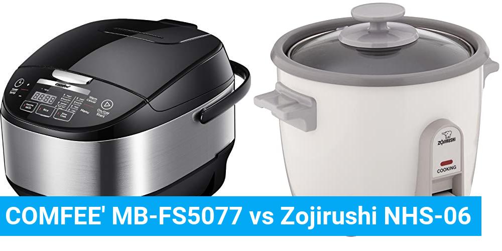 COMFEE' MB-FS5077 vs Zojirushi NHS-06