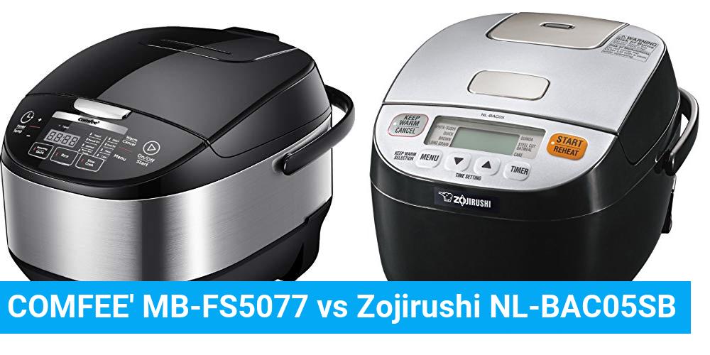 COMFEE' MB-FS5077 vs Zojirushi NL-BAC05SB