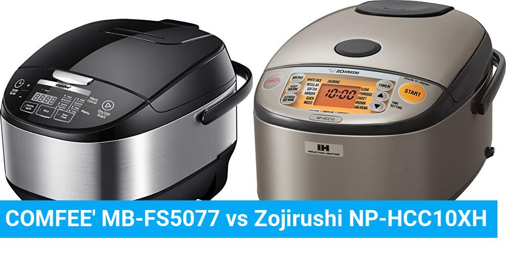 COMFEE' MB-FS5077 vs Zojirushi NP-HCC10XH