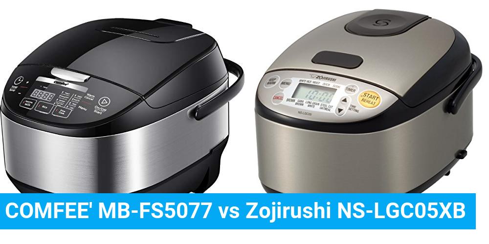 COMFEE' MB-FS5077 vs Zojirushi NS-LGC05XB