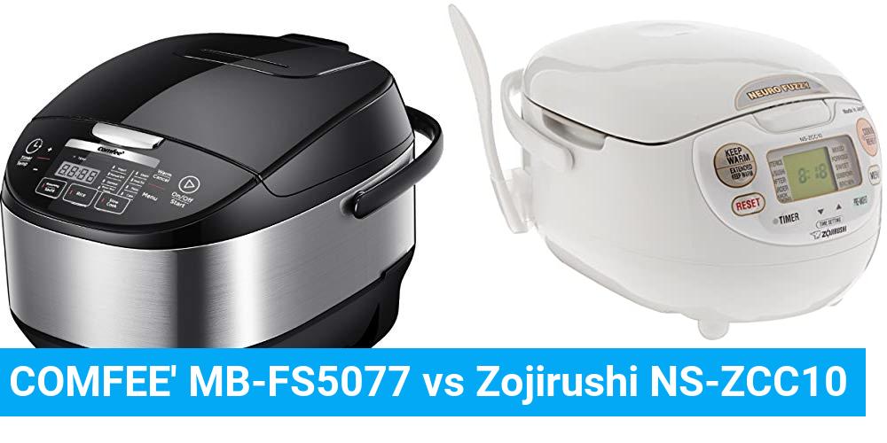 COMFEE' MB-FS5077 vs Zojirushi NS-ZCC10