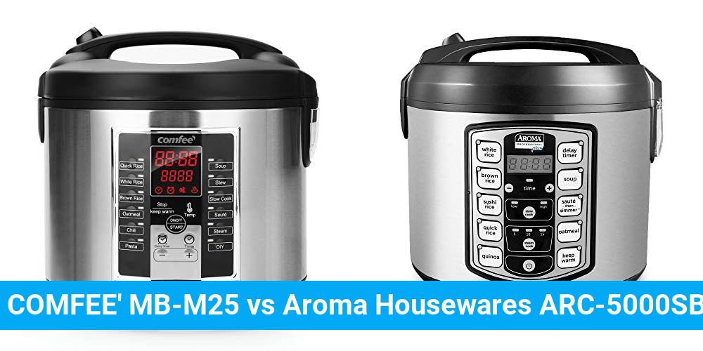 COMFEE' MB-M25 vs Aroma Housewares ARC-5000SB