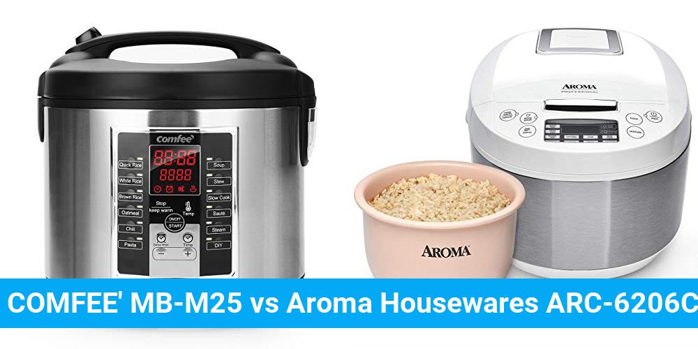 COMFEE' MB-M25 vs Aroma Housewares ARC-6206C