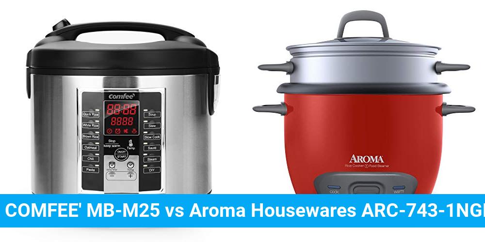 COMFEE' MB-M25 vs Aroma Housewares ARC-743-1NGR