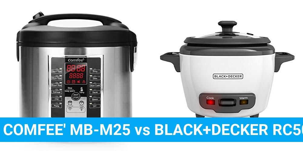 COMFEE' MB-M25 vs BLACK+DECKER RC503