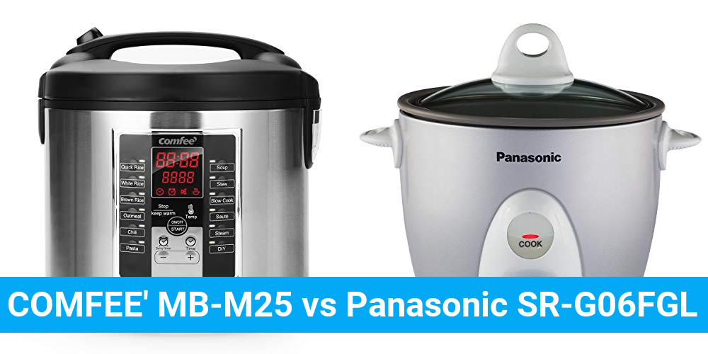 COMFEE' MB-M25 vs Panasonic SR-G06FGL