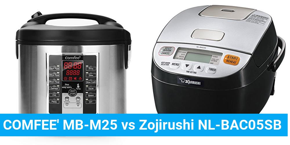 COMFEE' MB-M25 vs Zojirushi NL-BAC05SB