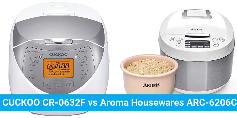CUCKOO CR-0632F vs Aroma Housewares ARC-6206C
