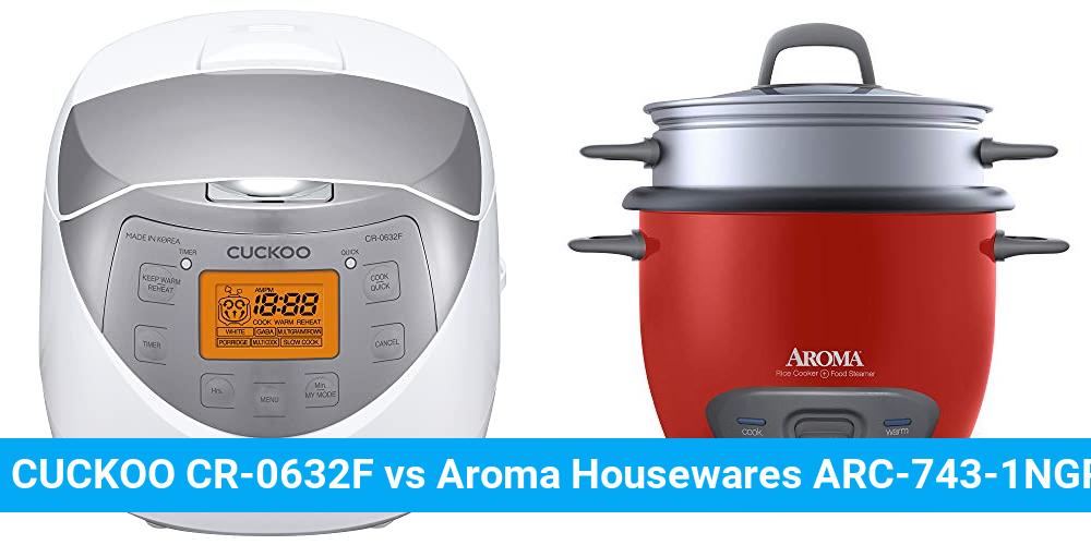 CUCKOO CR-0632F vs Aroma Housewares ARC-743-1NGR