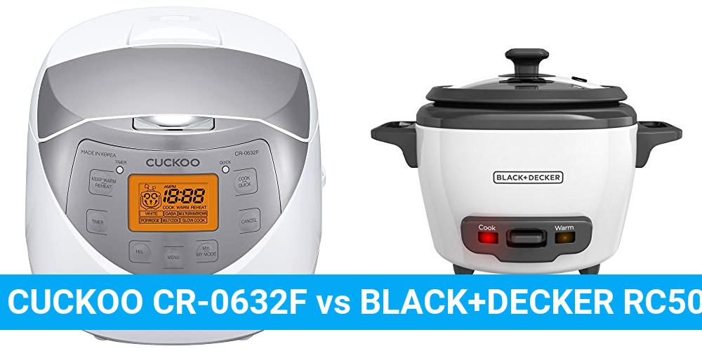 CUCKOO CR-0632F vs BLACK+DECKER RC503