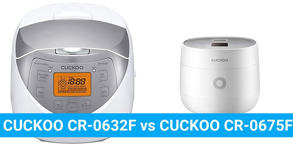 CUCKOO CR-0632F vs CUCKOO CR-0675FW
