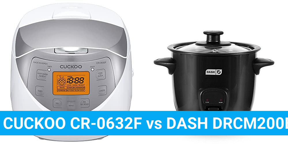 CUCKOO CR-0632F vs DASH DRCM200BK