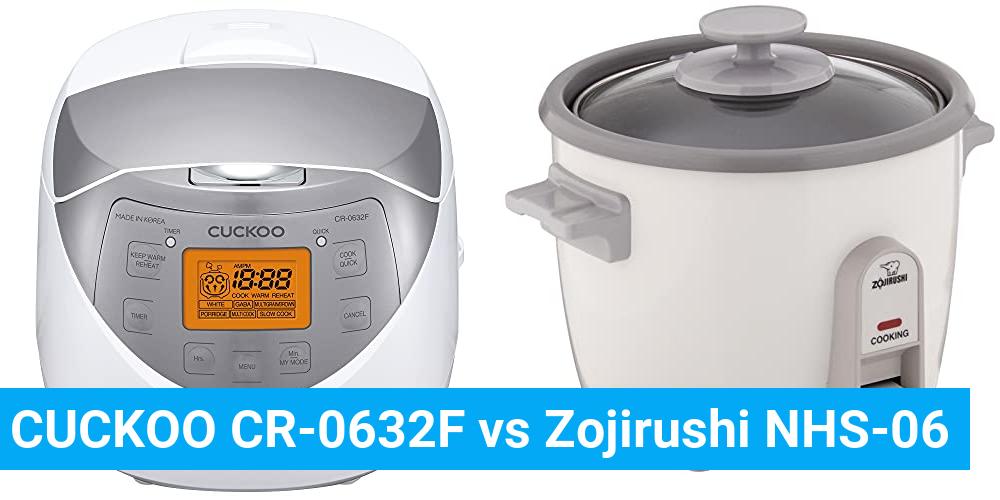 CUCKOO CR-0632F vs Zojirushi NHS-06