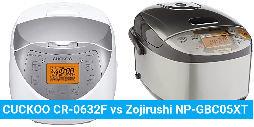 CUCKOO CR-0632F vs Zojirushi NP-GBC05XT