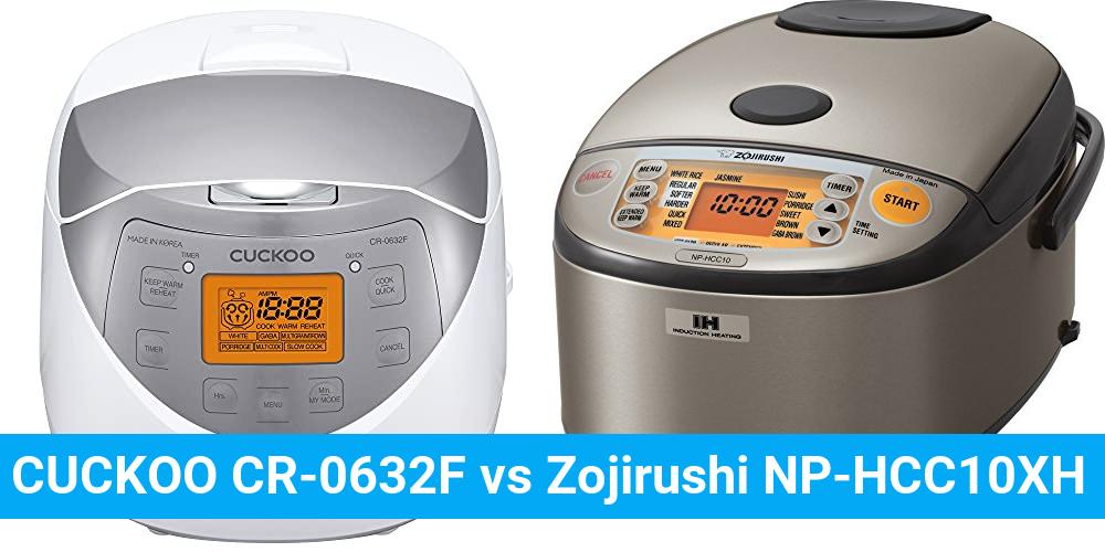 CUCKOO CR-0632F vs Zojirushi NP-HCC10XH