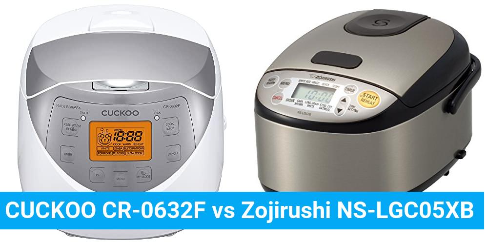 CUCKOO CR-0632F vs Zojirushi NS-LGC05XB