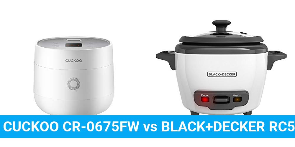 CUCKOO CR-0675FW vs BLACK+DECKER RC503