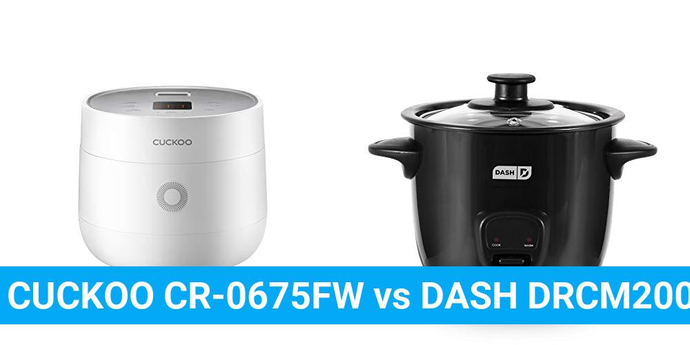 CUCKOO CR-0675FW vs DASH DRCM200BK