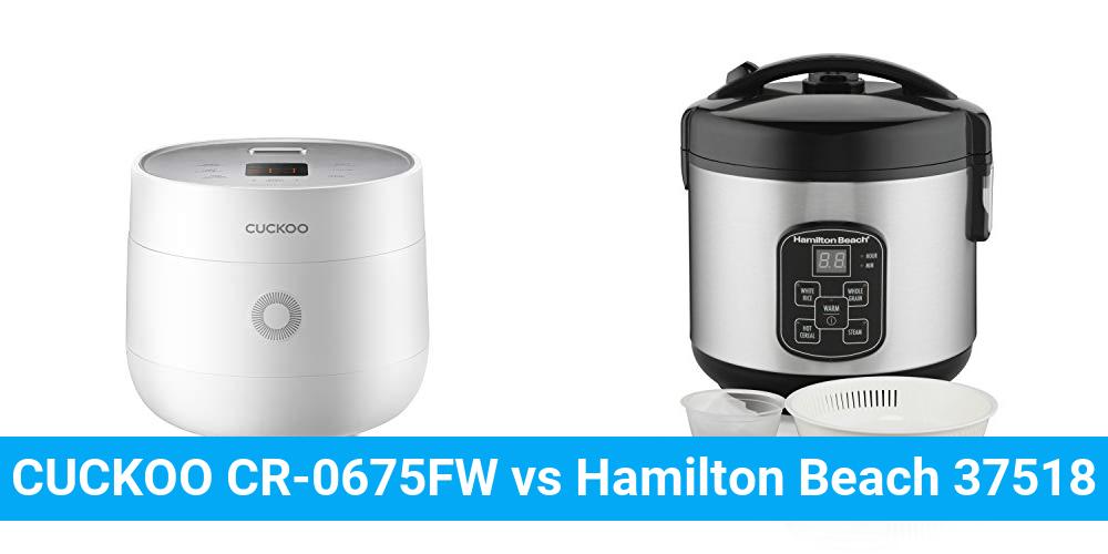 CUCKOO CR-0675FW vs Hamilton Beach 37518