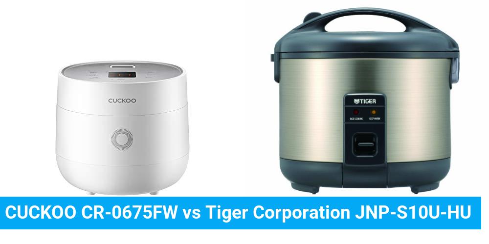 CUCKOO CR-0675FW vs Tiger Corporation JNP-S10U-HU