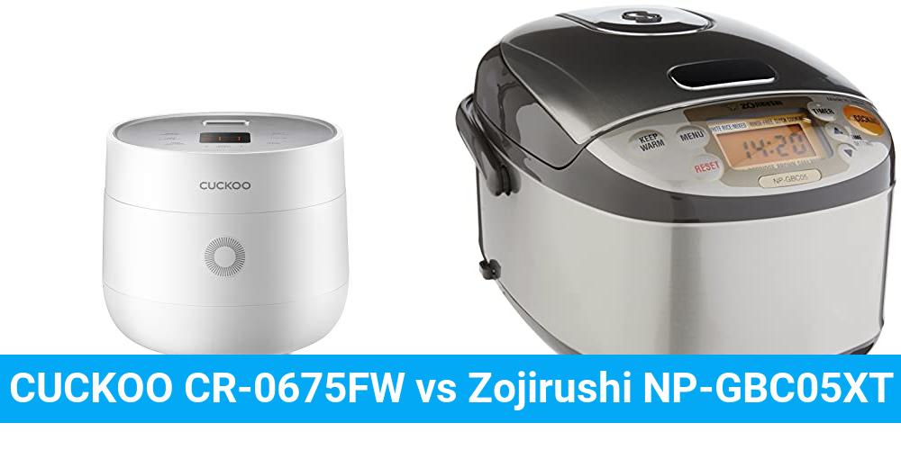 CUCKOO CR-0675FW vs Zojirushi NP-GBC05XT