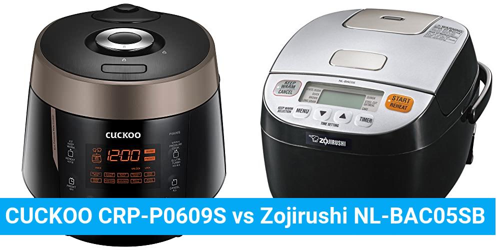 CUCKOO CRP-P0609S vs Zojirushi NL-BAC05SB