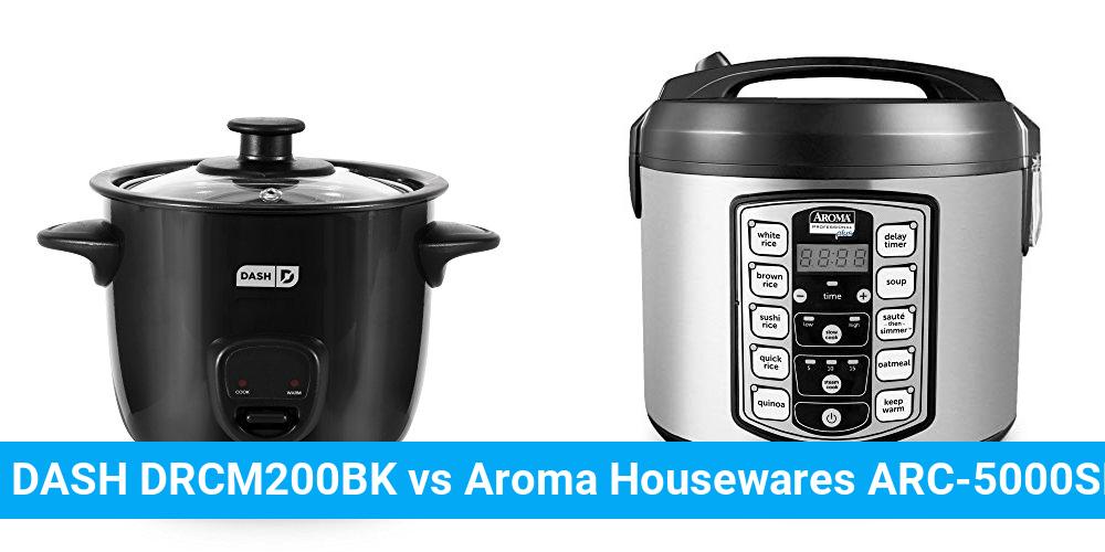 DASH DRCM200BK vs Aroma Housewares ARC-5000SB