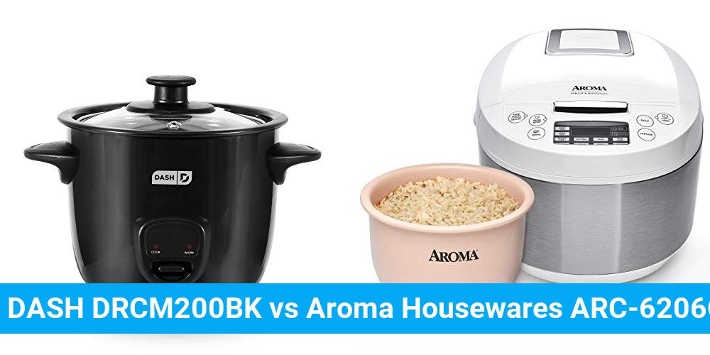 DASH DRCM200BK vs Aroma Housewares ARC-6206C