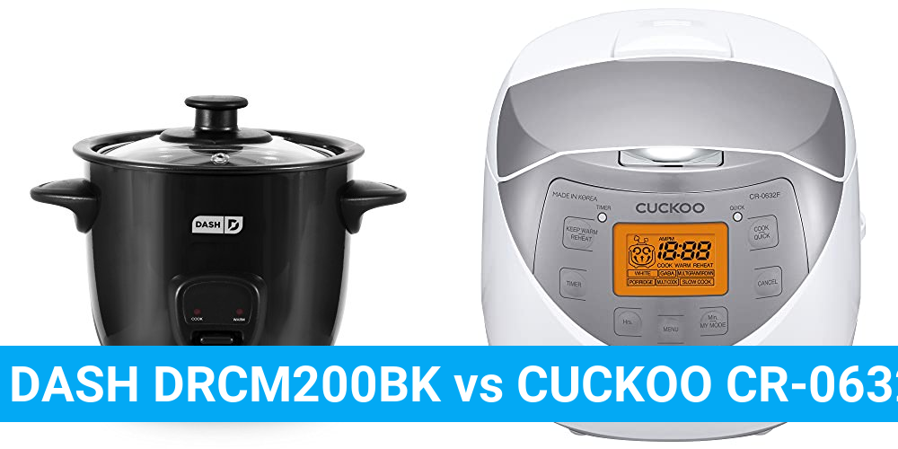 DASH DRCM200BK vs CUCKOO CR-0632F