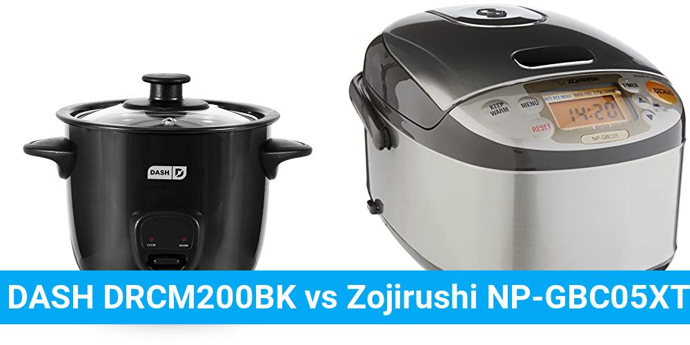 DASH DRCM200BK vs Zojirushi NP-GBC05XT